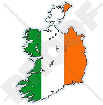 Sticker car moto map flag vinyl outside decal macbbook irish irelande ireland