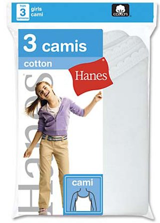 Hanes Girls Camisole (3-Pack)