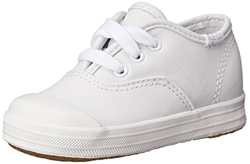 Keds girls Champion Lace Toe Cap Sneaker,White,7 M US Toddler