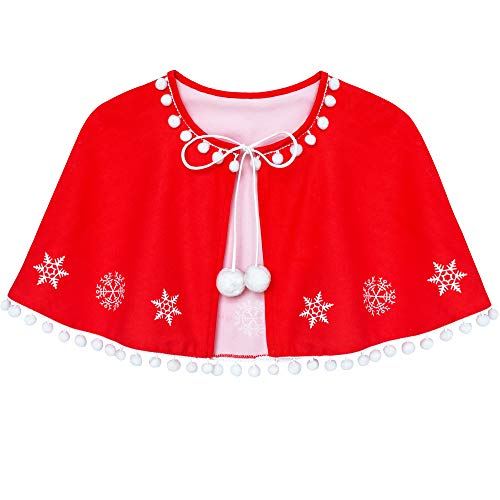 Sunny Fashion Girls Dress Red Cape Cloak Christmas Year Holiday Party Size 4-14
