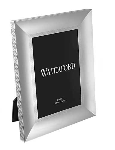 LISMORE DIAMOND patterned 8x10 silver frame by Waterford - 8x10 by Marquis By Waterford