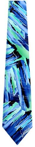 JG-XL-6235 - Jerry Garcia Extra Long Polyester XL Big and Tall Designer Necktie Ties (Jerry Garcia Extra Long Ties)