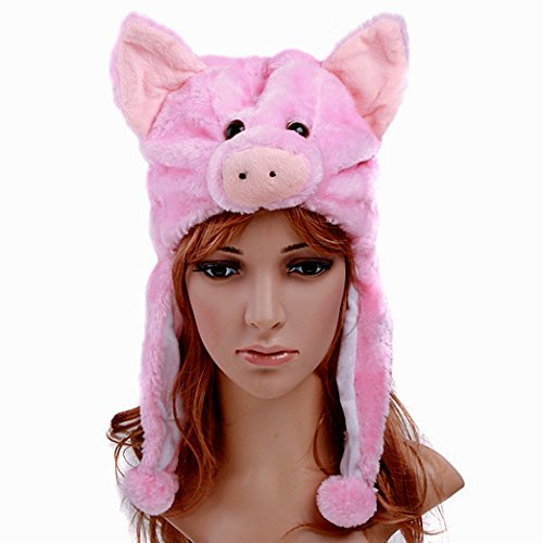 Pig - Fleece Aviator Cosplay Hat - Limited Quantity