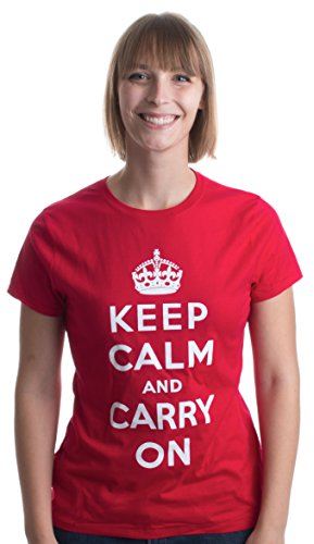KEEP CALM AND CARRY ON Ladies' T-shirt / British WWII Churchill War Tee Shirt