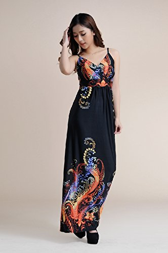2016 summer sexy women long boho dress beach maxi dress plus size flower print dress vestidos