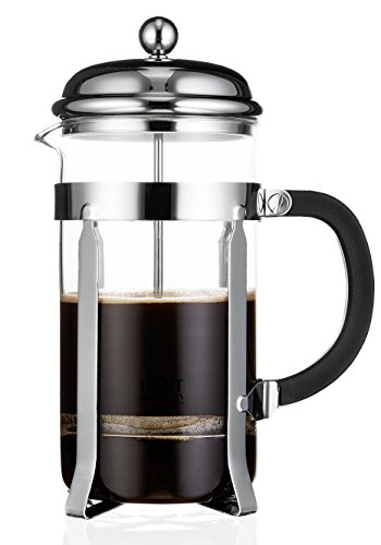 Hunt Brothers Classical French Press Coffee Maker 8 Cup/4 Mug (1 liter 35 oz) | Best Coffee Press with Double Mesh Screen System