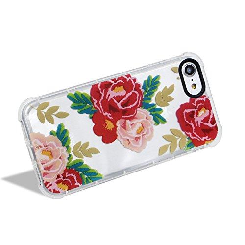 Custodia per iPhone 7 / iPhone 8 Silicone Morbida Transparente - Girlyard Colorata Sottile Gel TPU Antiurto Protezione Cover Case per Apple iPhone 8 / iPhone 7 4.7 Telefono Caso con Pellicola Protett