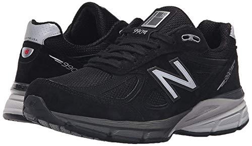 New Balance Women's W990V4 Run Shoe-W, Black/Silver, 8.5 D US (Best New Balance Stability Running Shoes)