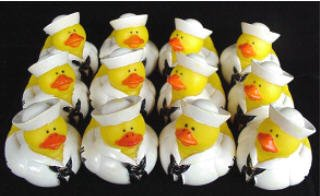 One Dozen (12) US Navy Rubber Duck Party Favors