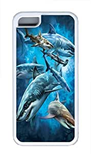 Diy iPhone 6 plus iPhone 6 plus Cases; Covers -Shark Collage TPU Rubber Soft Case Back Cover for iPhone 6 plus White