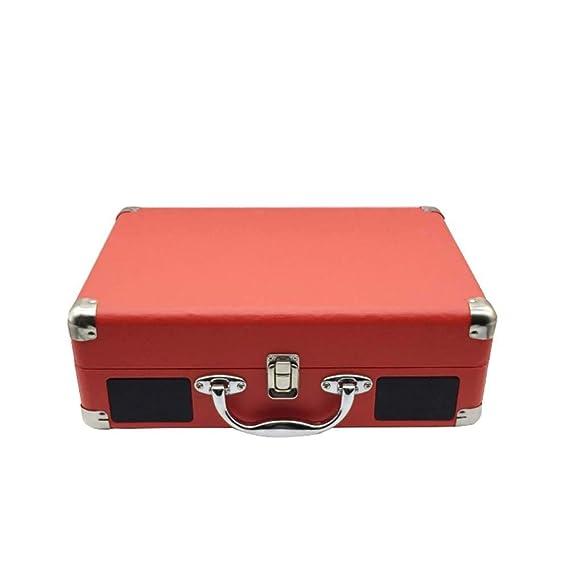 W.Z.H.H.H Manualidades Roja del gramófono del Tocadiscos portátil ...