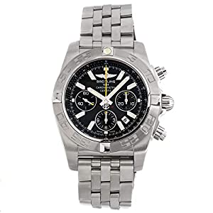 Breitling Chronomat Mechanical (Automatic) Black Dial Mens Watch AB01146B/M524 (Certified Pre-Owned)