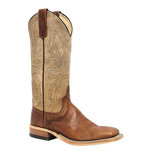 (Anderson Bean Womens Tonal Tan Crash Goat Cowgirl Boots)