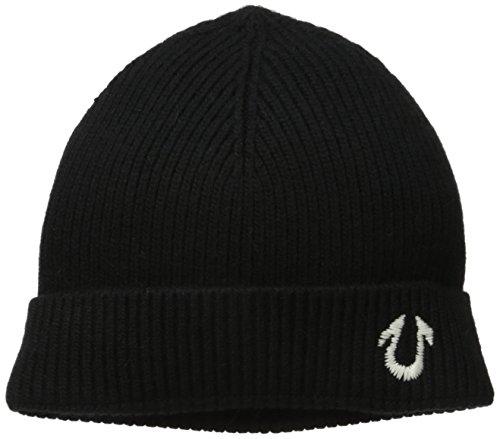 True Religion Men's Solid Watchcap, Black, One Size