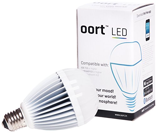 OORT SmartLED Bluetooth Smart Enabled Smart Bulb iOS & Android Compatible, White