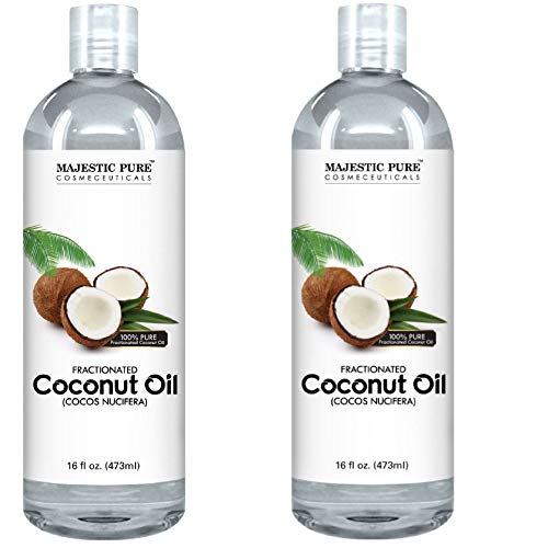 Majestic Pure Fractionated Coconut Oil, For Aromatherapy Relaxing Massage, Carrier Oil for Diluting Essential Oils, Hair & Skin Care Benefits, Moisturizer & Softener - Set of 2. by Majestic Pure (Image #2)