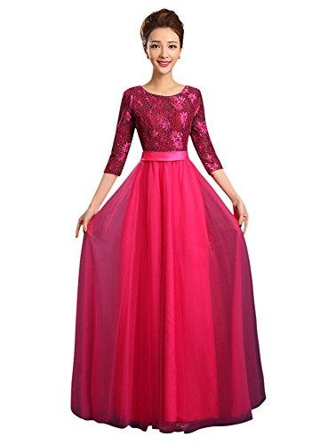 Kleid Drasawee Damen red Empire rosy Bcxq7EqwHp
