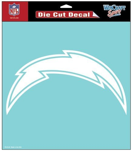 WinCraft NFL San Diego Chargers WCR25681071 Perfect Cut Decals, 8
