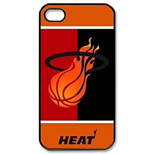 Unique Miami Heat--Awesome Cool NBA Team Logo Durable Rubber Case Cover For iPhone 4/4s