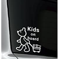 Kids on board 防水・車両OKカッティングステッカー YKK7J1-KOBW (白)