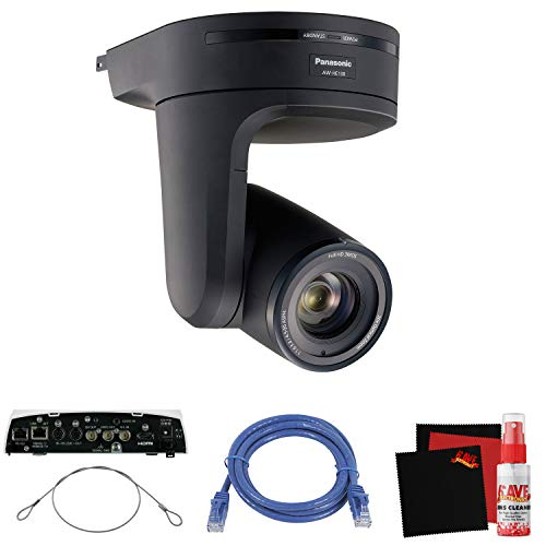 Cctv Panasonic (Panasonic AW-HE130 HD Integrated PTZ Camera (Black) Office Security Camera Bundle)