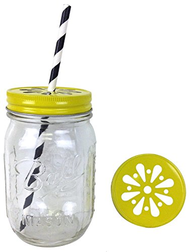 Just Artifacts 12pcs Regular Mouth Mason Jar Daisy Lid Yellow - LID ONLY