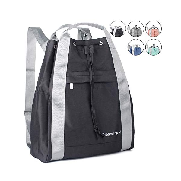 Drawstring-Backpack-String-Bag-Sackpack-Cinch-Water-Resistant-Nylon-for-Gym-Shopping-Sport-Yoga-by-WANDF