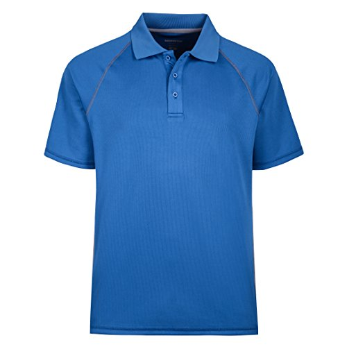 MOHEEN Men's Short Sleeve Uniforms Polo Shirt (2XL,Blue)
