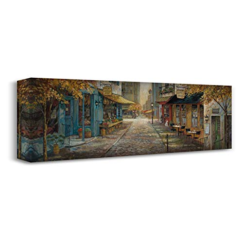 Embracing City Charm 60x20 Extra Large Gallery Wrapped Stretched Canvas Art by Manning, Ruane