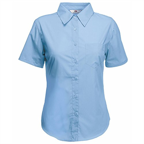 Mid Shirt Blau de Chemise the T Assortie Fit Lady of Fruit Loom nqCHHv