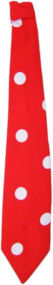 Tolles Accessoire zum Fifties Kost/üm an Karneval oder Mottoparty Das Kost/ümland Krawatte 50er Jahre mit Punkten Marineblau