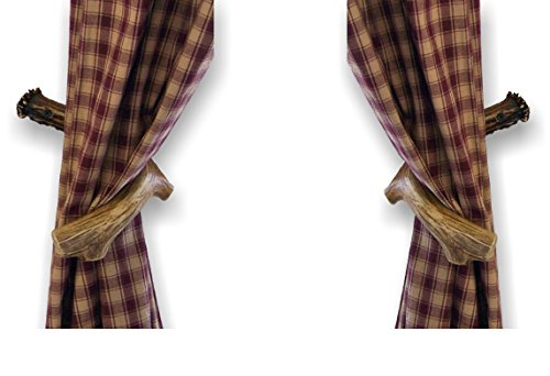 Mountain Mike's Reproductions Faux Antler Curtain Back Holder by Mountain Mike's Reproductions (Image #1)