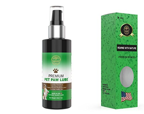 (Rewind With Nature dog paw care Oils-blister care dry inflamed paw cracks care natural oils for dry sore paw itchy Skin)
