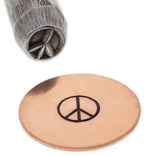 - Peace Sign Symbol B23 Border Stamp Hippie Charm Pendant Jewelry Making Metal Stamping Tool