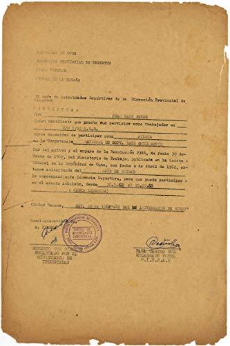 Che Guevara Raul Castro Signed Autographed 12x8 1962 Cuban Document JSA
