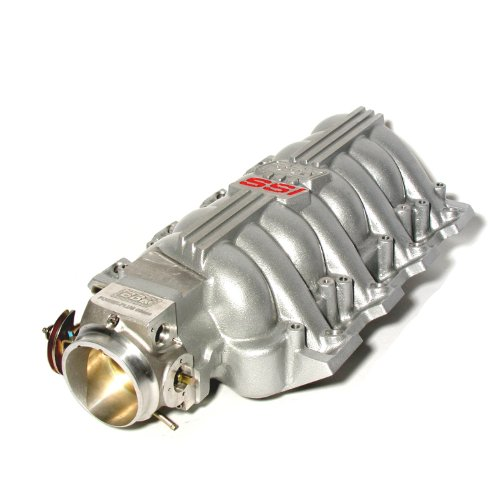 BBK 5006 Chevrolet GM LS1 High Performance SSI Series Intake Manifold - Titanium Silver Powder Coat Finish - Plus BBK 80mm Throttle Body for GM LS1 (Elec Control)