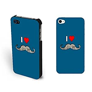 Pure Blue Love Heart Printed For LG G2 Case Cover Simple Cute Mustache Monogram For LG G2 Case Cover Shell for Girls