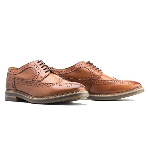 Base London Mens Turner Brown Leather Shoes 45 EU