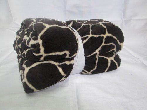 KING Super Soft NEW DARK BROWN JIRAFFE Microfiber Blanket Throw BEAUTIFUL