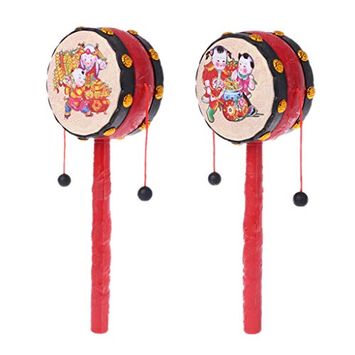 Shaoge Spin Rattle Drum Monkey Drum Chinese Kid Toy Gift