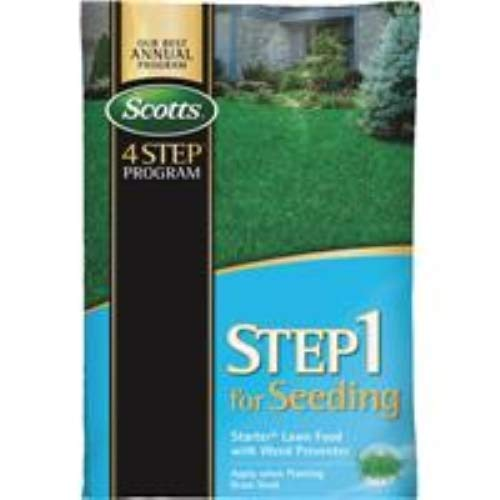 Scotts Preventer, 21-22-4, 21.52-Pound 36905 LawnPro Step 1 for Seeding Starter Lawn Food with Weed Pr