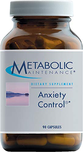 - Metabolic Maintenance Anxiety Control - Calming Support with GABA, B6, and Passion Flower (90 Capsules)