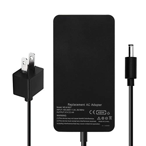 ZTHY 48W 12V 4A 1627 AC Adapter Charger Replacement for Microsoft Surface Pro 3 Docking Station 1664 Power Supply Transformer with Power ()