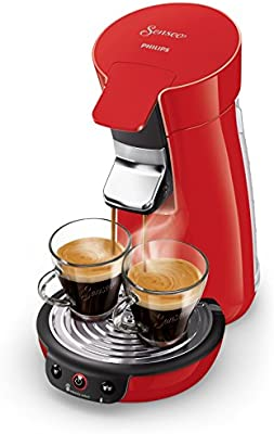 Senseo Viva Café HD6563/81 - Cafetera (Independiente, Máquina de café en cápsulas, 0,9 L, Dosis de café, 1450 W, Rojo)