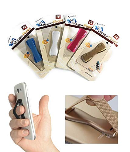 AsSeenOnTV 4351576551 Grip Your Phone Cell Phone Hand Strap Secure Sling Grip for Cell Phones /& Mini Tablets 4-Pack Bundle