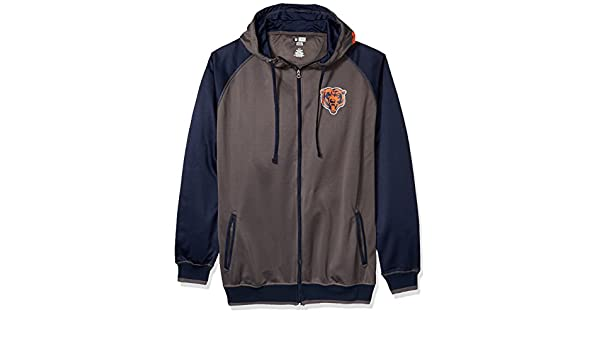 8ce8f692 Amazon.com : NFL Mens Bears Full Zip Poly Fleece Raglan : Clothing