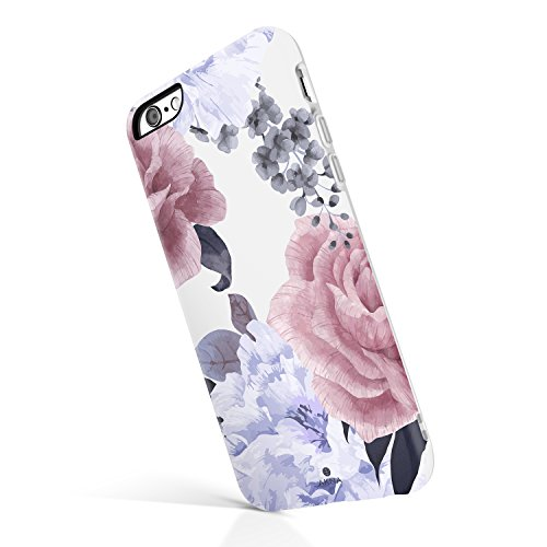 Akna iPhone 6 Plus / 6s Plus case Flower, Collection Flexible Silicon Cover for Both iPhone 6 Plus & 6s Plus [Floral Peony](789-U.S)