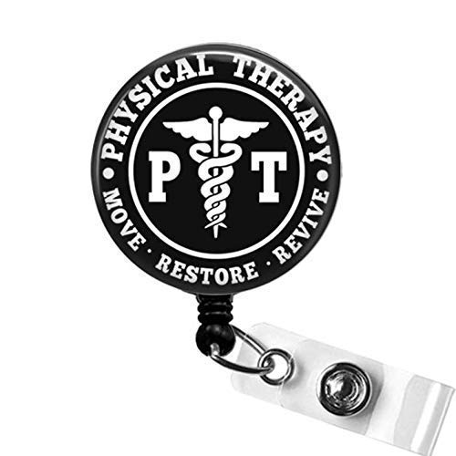 Physical Therapist Badge Reel Physical Therapy Badge Holder PT Badge Reel Physical Therapist Gift Physical Therapy Badge Reel