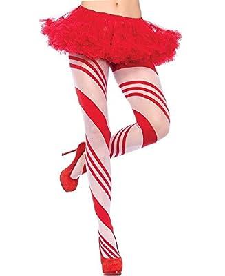 Leg Avenue Women's Candy Cane Pantyhose