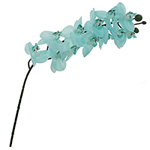 Lily Garden Set of 6 Mini Real Touch Artificial Phalaenopsis Orchids Flowers (Turquoise) 105